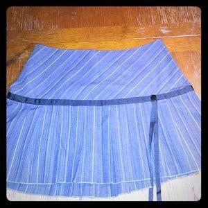 Xhilaration Gray pleated school girl mini skirt